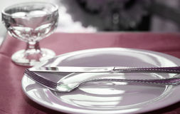 Upscale Dinner Table Royalty Free Stock Images