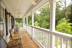 Upscale front porch Royalty Free Stock Photography