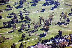 Upscale Golf Course. Beautifual, mature, upscale golf course as viewed from above Stock Photo