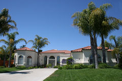 Upscale Home. Nice home in california, horizonal stock photography