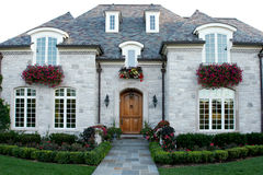 Upscale home. Front of the upscale home Royalty Free Stock Photo