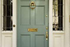 Upscale Home Front Door royalty free stock photography