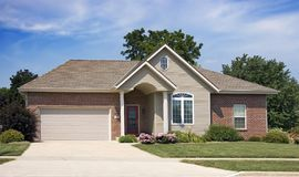 Upscale Home Paved Driveway stock photos