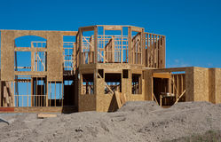 Upscale home under construction Royalty Free Stock Images