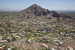 Upscale Homes near Camelback Mountain Stock Photos