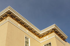 Upscale house roof and cornice detail Stock Photography