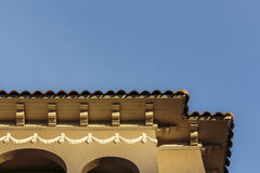 Upscale house roof and cornice detail Stock Images