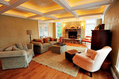 Upscale Living Room Interior Royalty Free Stock Photography