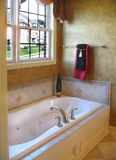 Upscale Master Bathroom. With jet tub Royalty Free Stock Images