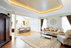 Upscale Master Suite Interior Royalty Free Stock Photos