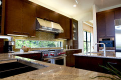 Upscale Modern Kitchen Stock Image