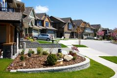 Upscale neighborhood Stock Images