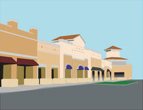 Upscale pastel commercial mall Stock Image