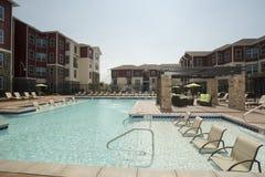 Upscale Pool Area Stock Photo