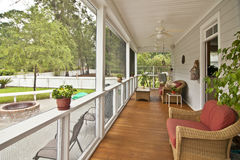 Upscale porch Royalty Free Stock Photo