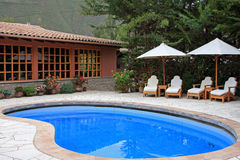 Upscale Resort & Spa in South America Stock Photo