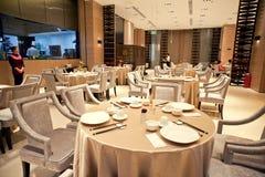 Upscale restaurant decoration Royalty Free Stock Photography