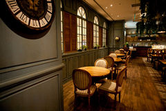 Upscale restaurant decoration Stock Photos
