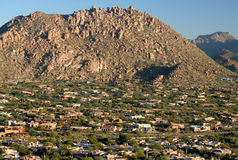 Upscale Scottsdale Neighborhood Stock Photography