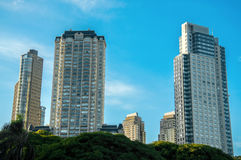 Upscale Skyscrapers in Buenos Aires. Beautiful skyscrapers in the Puerto Madero neighborhood of Buenos Aires Stock Images