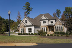 Upscale suburban house Royalty Free Stock Photos
