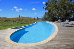 Upscale swimming pool on Easter Island Stock Image