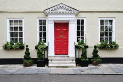 Upscale Town House. Exterior of an Upscale Georgian Era London Town House Royalty Free Stock Photos