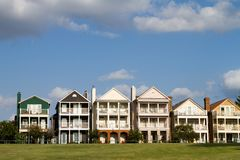 Upscale Townhomes Stock Images