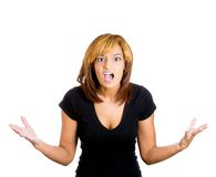 Upsed screaming woman Royalty Free Stock Photography