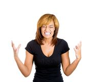 Upsed screaming woman Royalty Free Stock Photo