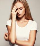 upset женщина Стоковое Изображение