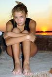 Upset предназначенная для подростков девушка Стоковое Изображение RF
