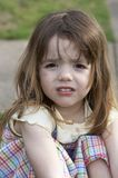 Upset. A cute little girl that is upset Royalty Free Stock Photos