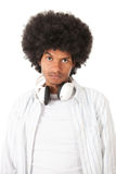 Upset afro man Stock Photo