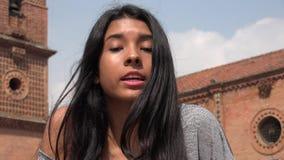 Upset And Angry Teen Girl stock footage