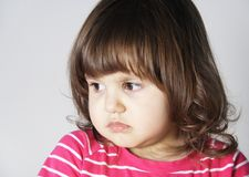 Upset Annoyed Little Girl Portrait Royalty Free Stock Images