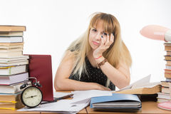 Upset Applicant saw on Internet that are not enrolled in school Stock Images