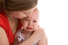 Upset baby Royalty Free Stock Images