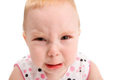 Upset baby Royalty Free Stock Photos
