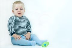 Upset baby Stock Photography