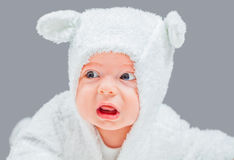 Upset baby boy Stock Photo
