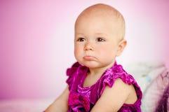 Upset Baby Girl Stock Image
