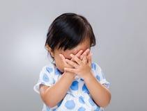 Upset baby girl Stock Photo