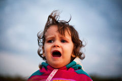 Upset baby yelling Royalty Free Stock Photography