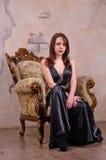 Upset beautiful woman wearing fancy Stock Photos