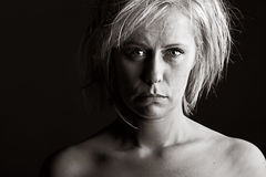 Upset Blonde Woman Stock Photos