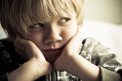 Upset boy Royalty Free Stock Images