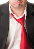 Upset business man with loose tie Stock Photography