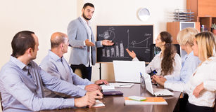 Upset business team in office Stock Photography
