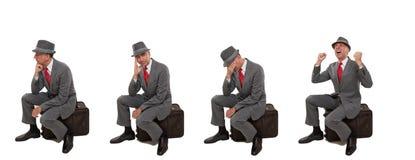 Upset business travelers Stock Photos